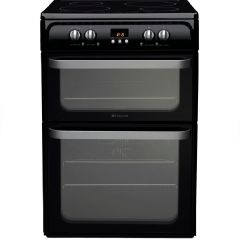 Hotpoint HUI614K 60cm Black Electric Cooker With Induction Hob