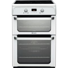 Hotpoint HUI612P 60cm White Cooker With Induction Hob