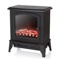 Warmlite Mable WL46021 Black Compact Stove Fire