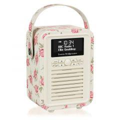 VQ Mini Emma Bridgewater Rose And Bee Retro DAB Radio