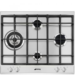 SMEG P261XGH Cucina 60cm Stainless Steel Gas Hob