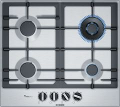 Bosch Serie 6 PCH6A5B90 Stainless Steel Gas Hob