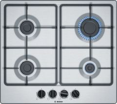 Bosch PGP6B5B60 4 Burner Gas Hob, Stainless Steel