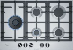 Bosch Serie 6 PCS7A5B90 75cm Stainless Steel Gas Hob