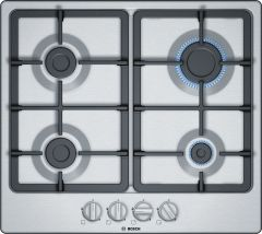 Bosch Serie 4 PGP6B5B90 Stainless Steel Gas Hob