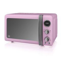 Swan SM22030PN Pink Retro Style Microwave