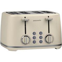 Rangemaster RMKT4S101CM Cream 4 Slice Toaster