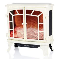 Warmlite Rochester Cream Double Door Fireplace Heater
