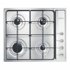 SMEG S64S Cucina 60cm Stainless Steel Gas Hob