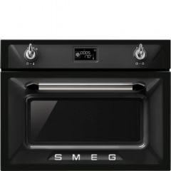 Smeg SF4920MCN Black Compact Microwave Oven