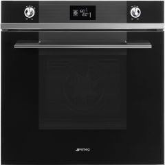 Smeg SF6102TVN Linea Multifunction Oven With Black Glass Finish