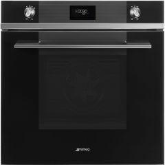 Smeg SFP6101TVN Linea Black Glass Built-in Oven