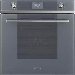 Smeg SFP6101TVS Linea Single Oven In Silver Glass