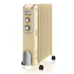 Swan SH60010CN Cream Retro Style Oil Filled Radiator