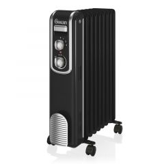 Swan SH60010BN Black Retro Style Oil Filled Radiator