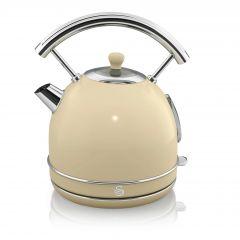 Swan SK14630CN Cream Retro Style Dome Kettle