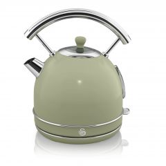 Swan SK14630GN Green Retro Style Dome Kettle