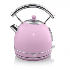 Swan SK14630PN Pink Retro Style Dome Kettle