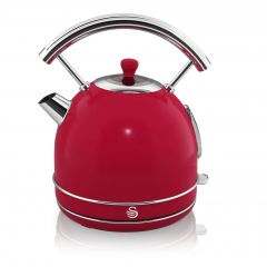 Swan SK14630RN Red Retro Style Dome Kettle