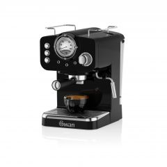 Swan SK22110BN Black Retro Espresso Coffee Machine