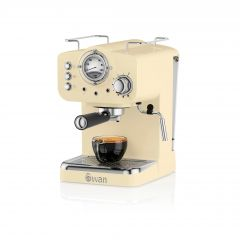 Swan SK22110CN Cream Retro Espresso Coffee Machine