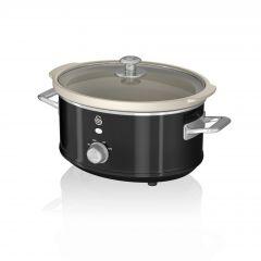 Swan SF17021BN Black Retro 3.5 Litre Slow Cooker