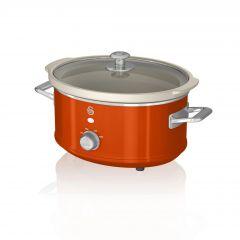 Swan SF17021ON Orange Retro 3.5 Litre Slow Cooker