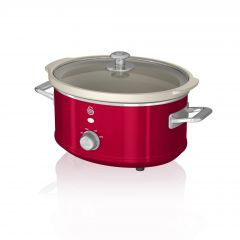 Swan SF17021RN Red Retro 3.5 Litre Slow Cooker