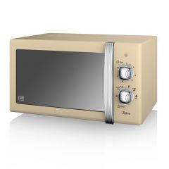 Swan SM22130CN Cream Manual Compact Microwave