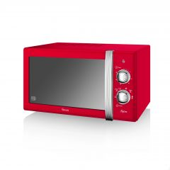 Swan SM22130RN Red Retro Style Manual Microwave