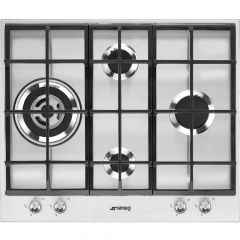 SMEG PX164L 4 Burner Gas Hob In Stainless Steel