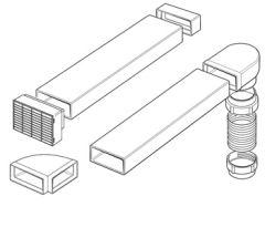 Smeg SP150Flat Comprehensive Vent Kit