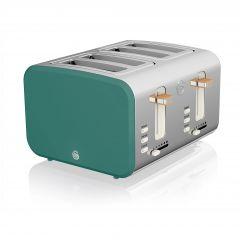 Swan Nordic ST14620GREN Green 4 Slice Toaster