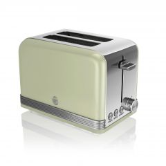 Swan ST19010GN Green Retro Style 2 Slice Toaster