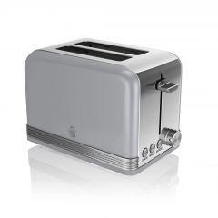Swan ST19010GRN Grey Retro Style 2 Slice Toaster