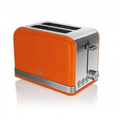 Swan ST19010ON Orange Retro Style 2 Slice Toaster