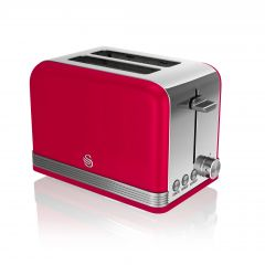 Swan ST19010RN Red Retro Style 2 Slice Toaster