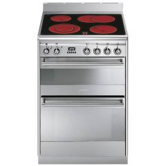 Smeg SUK62CMX8 60cm Stainless Steel Electric Cooker