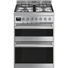 Smeg SY62MX9 60cm Stainless Steel Dual Fuel Cooker