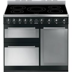 Smeg SY93IBL Symphony 90cm Electric Induction Range Cooker