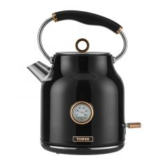 Tower Bottega T10020B Black Kettle With Rose Gold Accents