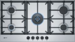 Neff T29DS69N0 90cm Stainless Steel Gas Hob