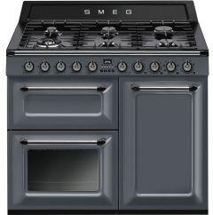Smeg TR103GR Grey Dual Fuel Range Cooker