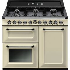 Smeg Victoria TR103P Dual Fuel Range Cooker In Cream