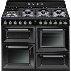 Smeg TR4110BL1 Gloss Black 110cm Range Cooker