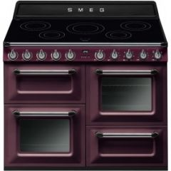 Smeg TR4110IRW 110cm Electric Range Cooker In Red Wine