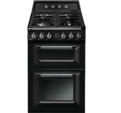 Smeg TR62BL Victoria 60cm Dual Fuel Cooker, Black