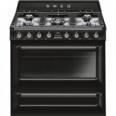 Smeg TR90BL9 Black 90cm Dual Fuel Range Cooker