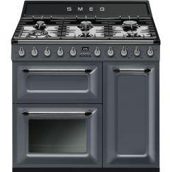 Smeg TR93GR Slate Grey Retro Style Range Cooker