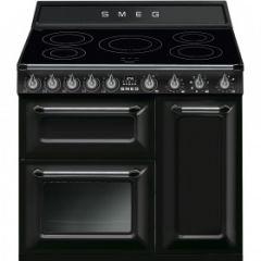 Smeg TR93IBL 90cm Range Cooker, Black
